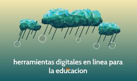 herramientas digitales en linea para la educacion