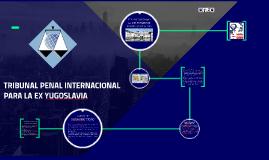 TRIBUNAL PENAL INTERNACIONAL PARA LA EX YUGOSLAVIA