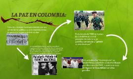 LA PAZ EN COLOMBIA: