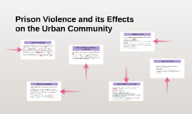 Prison Violence and its Effects on the Urban Community