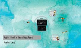 Motif of Death in Robert Frost Poems
