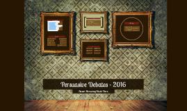 6th Grade Persuasive Debates - 2016