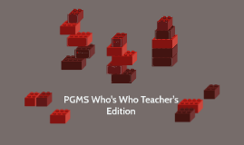 PGMS Who's Who Teacher's Edition