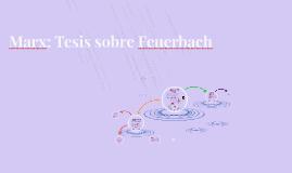 Marx: Tesis sobre Feuerbach