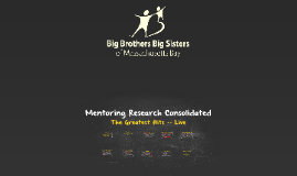BBBS Mentoring Research Consolidated