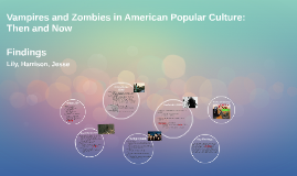 Vampires and Zombies in American Popular Culture: Then and N
