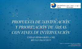 PROPUESTA DE ZONIFICACIÓN Y PRIORIZACIÓN DE AREAS CON FINES