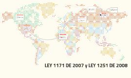 LEY 1171 DE 2007 y LEY 1251 DE 2008