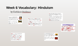 Week 6 Vocabulary: Hinduism