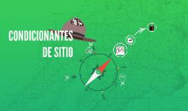 CONDICIONANTES DE SITIO