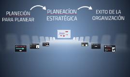Planeación para planear