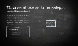 Ètica la tecnología