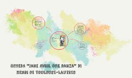 """SCHEDA """"Jane Avril che danza"""" Di Henri de Toulouse-Lautrec"""