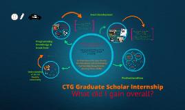 CTG Graduate Scholar Internship