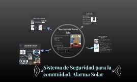 Alarma Solar