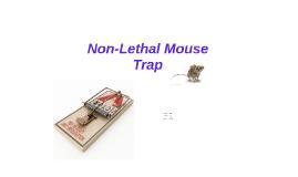 Non-Lethal Mouse Trap