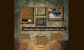 Educacion Fisica en Argentina 1976-2014