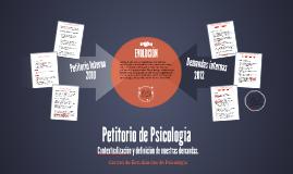 Petitorio de Psicología