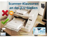 Scanner-Klausuren an der JLU Gießen