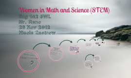 Women in Math and Science (STEM)