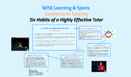 Copy of WISE BluePrint to EXcellence in Tutoring