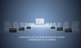Plan de comunicaciónLOW COST