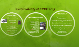 Sustainability at ERKO 2015