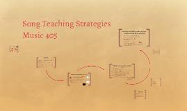 Song Teaching Strategies