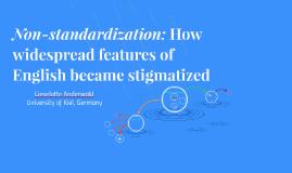 Non-standardization