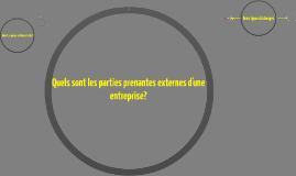 Quels sont les parties prenantes externes d'une entreprise?