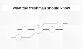 what the freshman should know