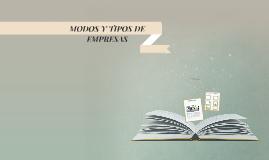 Copy of Modos y Tipos de Empresas