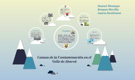 Causas de la Contaminacion en el Valle de Aburrá