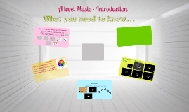 A level Music - Introduction