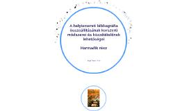 A helyismereti bibliográfiák összeállításának módszerei 3