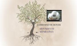 GOBIERNO DE BOYER