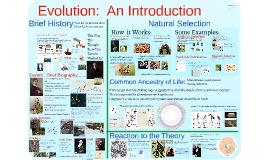 Evolution 1: Introduction to Evolution