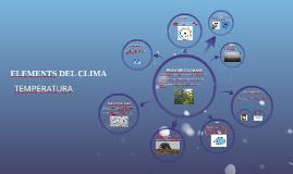 ELEMENTS DEL CLIMA