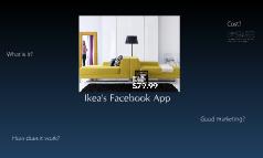Ikea's app on Facebook
