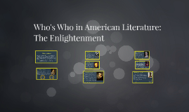Who's Who in American Literature: