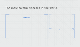The most painful diseases in the world.