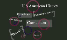 Open House 8th grade History