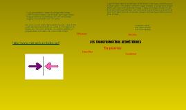 Les transformations géométriques
