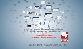 Presentación Ascenso_Researching Social Networking Sites for Language