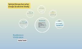 Spletni forum - VIVID 2016
