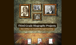 Third Grade Biography Projects