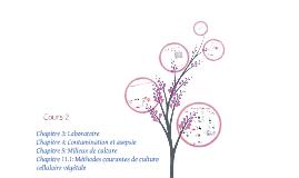 Ch 2, 3, 4-Culture cellulaire végétale - Cours 2