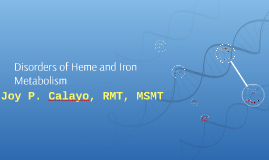 Disorders of Heme and Iron Metabolism