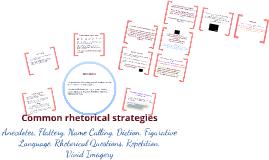 Common Rhetorical Strategies