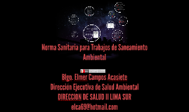 Copy of Norma Sanitaria para Trabajos de Saneamiento Ambiental